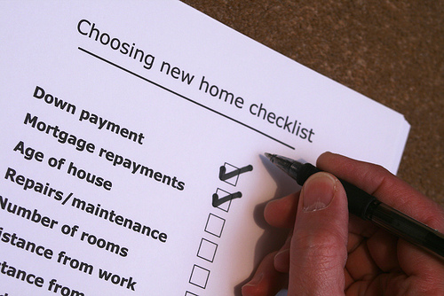 checklist for your mortgage