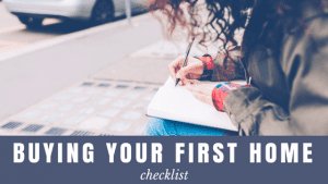 first home checklist